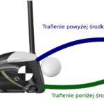 Trafienie środka cięzkości kija golfowego