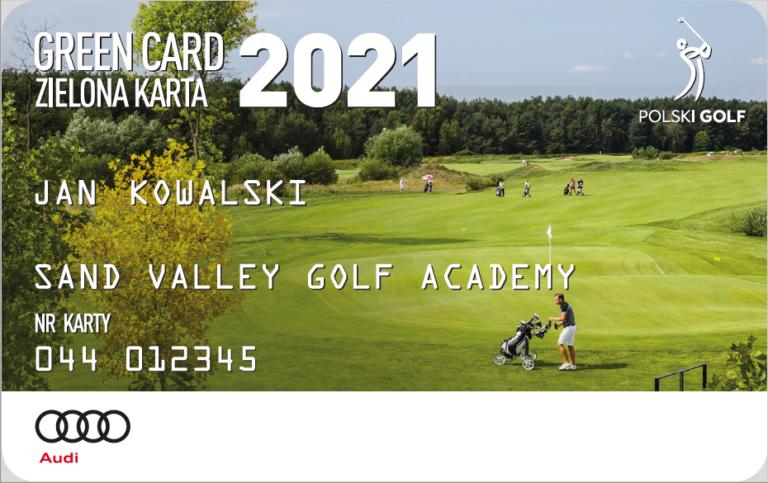green card zielona karta golfisty