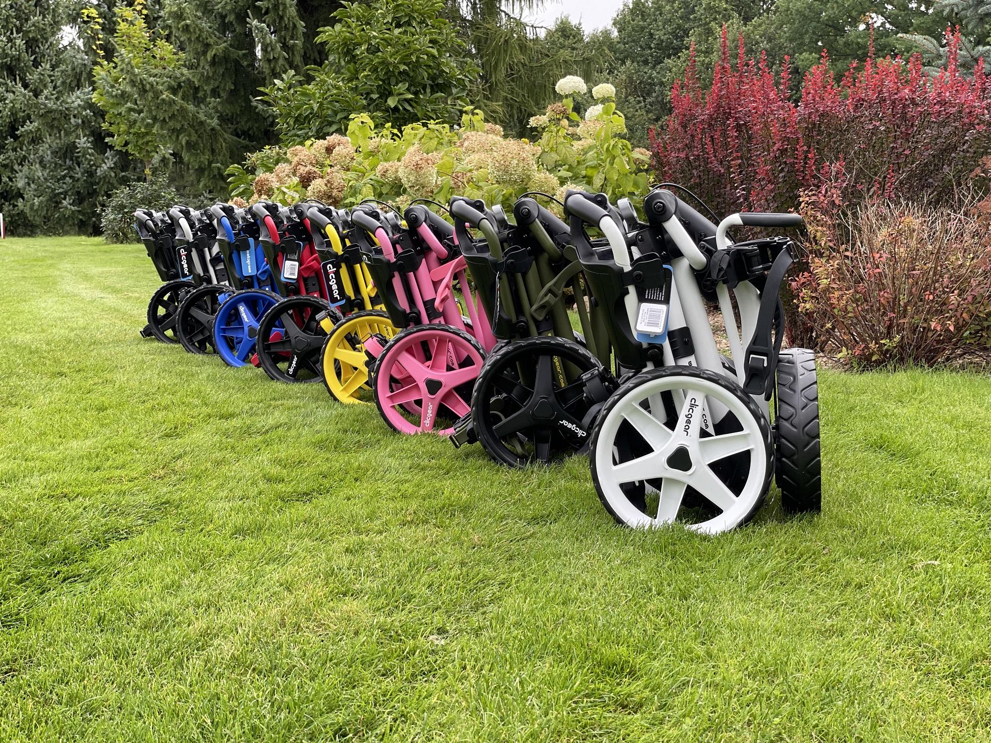 wózki do golfa clicgear kolory