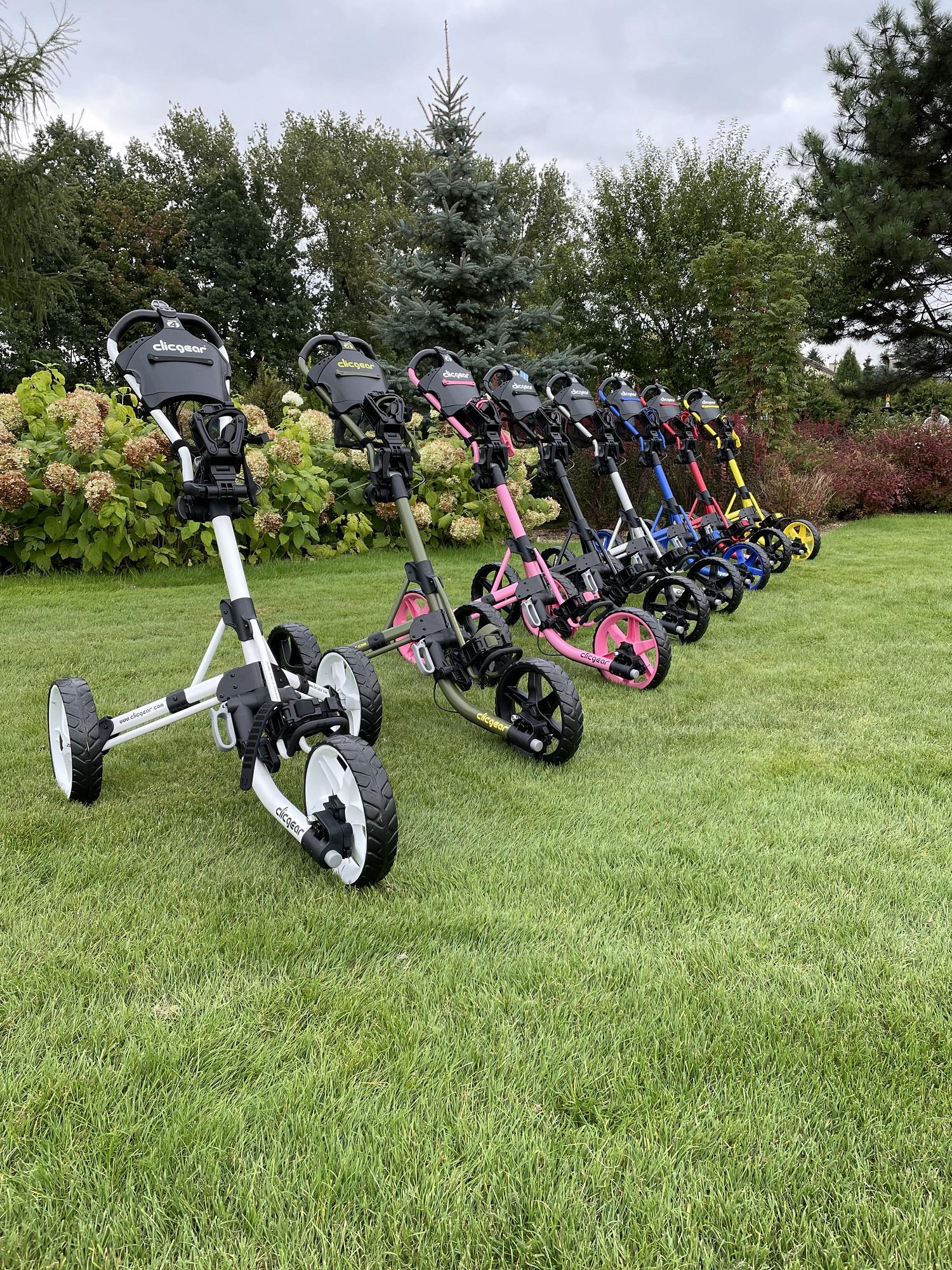 wózki golfowe clicgear kolory