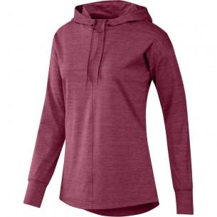Adidas Essentials Heathered Hoodie Ladies red bluza golfowa