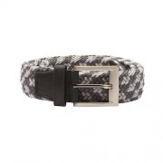 Adidas Braided Stretch Belt white/black pasek golfowy