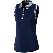 Adidas Ultimate 365 Printed Sleeveless Polo night indigo koszulka golfowa