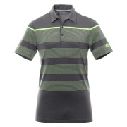 Adidas Ultimate 365 Dash Stripe Polo grey/yellow koszulka golfowa