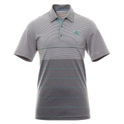 Adidas Ultimate 365 Heathered Stripe Polo grey/green koszulka golfowa