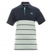Adidas Golf Ultimate 365 Heather Block Polo navy