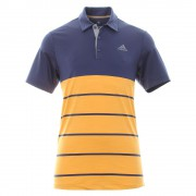 Adidas Golf Ultimate 365 Heather Block Polo orange
