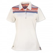 Adidas Ultimate 365 Stripe white/chalk coral polo damskie