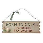 Born to Golf - drewniana tabliczka