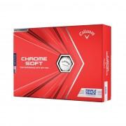 Piłki golfowe Callaway Chrome Soft Triple Track white 12-pack