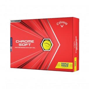 Piłki golfowe Callaway Chrome Soft Triple Track yellow 12-pack