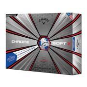 Piłki golfowe Callaway Chrome Soft X TRUVIS 12-pack (2 kolory)