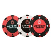 Odyssey Poker Chip Ball Markers 3-pack