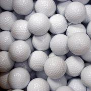 Piłki golfowe białe, czyste, bez logotypu