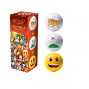 Emoji śmieszne piłki Beer+Golf=Happy (3szt.)