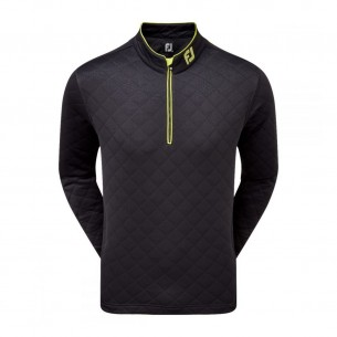 FootJoy Diamond Quilted Chill Out Pullover black bluza golfowa