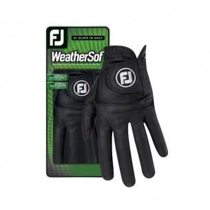 FootJoy WeatherSof Ladies black rękawiczki golfowe