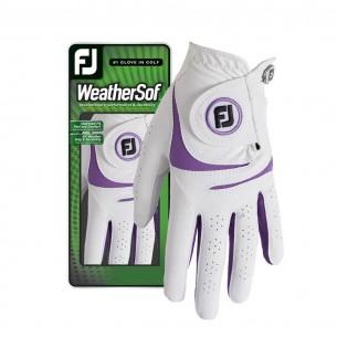FootJoy WeatherSof Ladies white rękawiczki golfowe