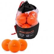 Prisma Fluoro Kolorowe Piłki 12-pack (pomarańczowe/żółte/różowe/niebieskie) piłki golfowe