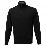 Mizuno Windproof Jumper black ocieplany sweter golfowy