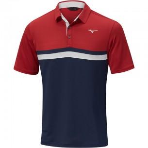 Mizuno Quick Dry Horizon Polo navy/red koszulka golfowa
