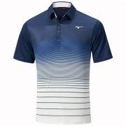 Mizuno Quick Dry Mirage Polo navy koszulka golfowa