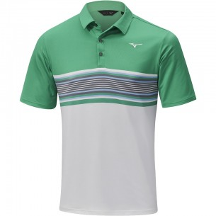 Mizuno Quick Dry Oceanic Polo green koszulka golfowa