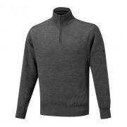 Mizuno Windproof Lined grey ocieplany sweter golfowy