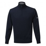 Mizuno Windproof Lined navy ocieplany sweter golfowy