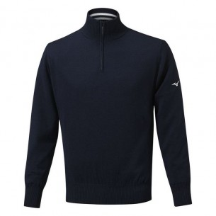 Mizuno Windproof Lined navy ocieplany sweter golfowy