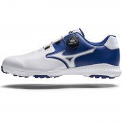 Mizuno Nexlite GS Spikeless white/blue BOA buty golfowe