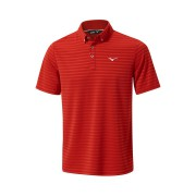 Mizuno Quick Dry Textured Polo red