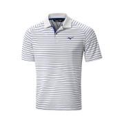 Mizuno Quick Dry Stripe Polo white/navy