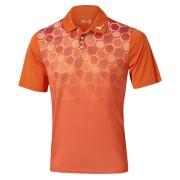 Mizuno Gradient Hexagon Polo orange koszulka golfowa
