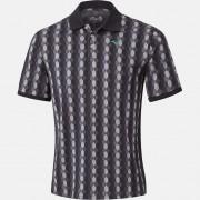 Mizuno Micro Hexagon Jacquard Polo black koszulka golfowa