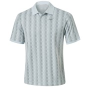 Mizuno Micro Hexagon Jacquard Polo illusion blue koszulka golfowa