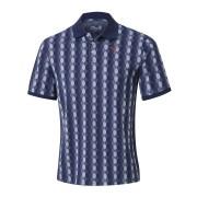 Mizuno Micro Hexagon Jacquard Polo navy koszulka golfowa