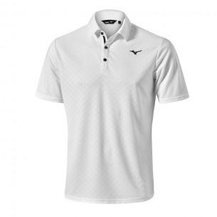 Mizuno Quick Dry Jacquard Polo white koszulka golfowa