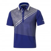 Mizuno Solar Cut Print Polo surf blue