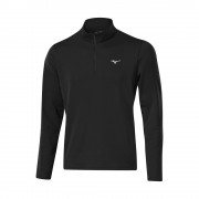 Mizuno Breath Thermo 1/4 Zip black bluza ocieplana