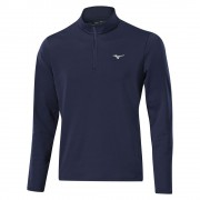 Mizuno Breath Thermo 1/4 Zip navy bluza ocieplana