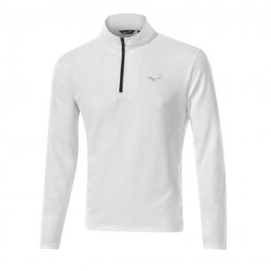 Mizuno Breath Thermo 1/4 Zip white bluza ocieplana