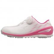 Mizuno Nexlite BOA Ladies white/pink buty golfowe [WYPRZEDAŻ]
