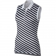 Nike Precision Print Sleeveless black/white polo damskie