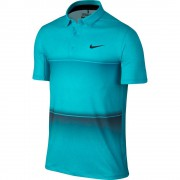 Nike Mobility Stripe Polo blue