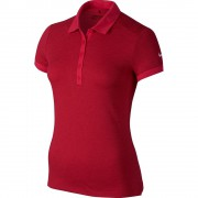 Nike Victory Texture red polo damskie