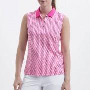 Nivo Frankie white/pink polo damskie