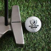 KEEP CALM AND PLAY GOLF - Personalizowane piłki golfowe