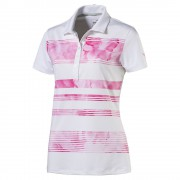 Puma Bloom Stripe pink polo damskie