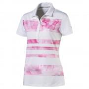 Puma Bloom Stripe pink polo damskie